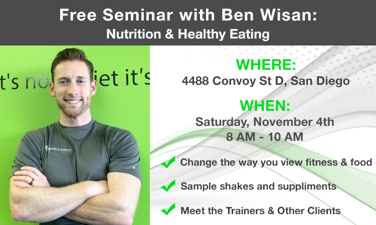 nutrition training fitness event in San Diego